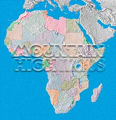 Map Catalog World Map Collection African Continent Maps - African continent map