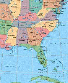 Map Catalog - World map collection - USA Eastern Maps