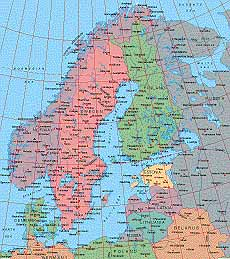 Map Catalog World Map Collection Scandinavia Maps - Map of scandinavia