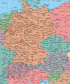 Map Catalog - World map collection - Germany, Switzerland, Austria Maps