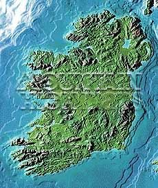 Ireland Elevation Map.Map Catalog World Map Collection Ireland Maps
