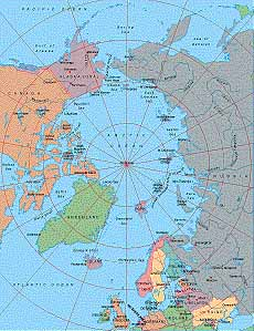 Map Catalog - World map collection - Arctic Ocean centered at 0° Maps